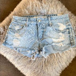 Lovers + Friends Denim Shorts -Size 26